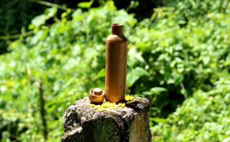 botellas de bambú