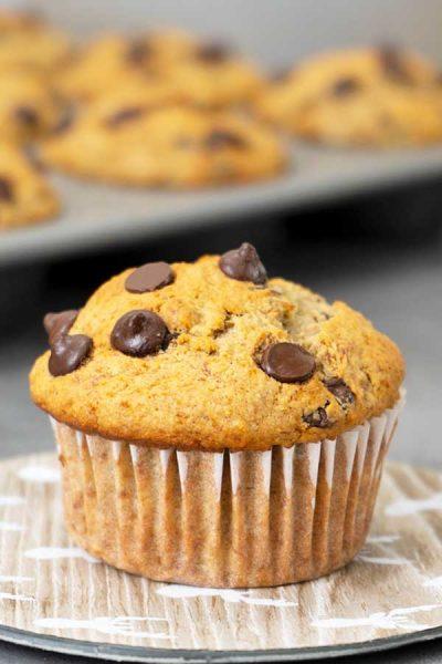 Muffin de avena y plátano