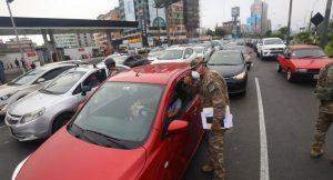 58 conductores fueron multados con S/6.540 por salir en sus autos particulares este último domingo