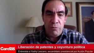 VIDEO | Lescano exhorta al gobierno a insistir con la liberación de las patentes de la vacuna contra el COVID-19