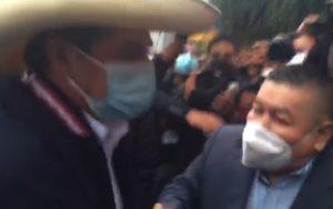 VIDEO | Pedro Castillo llegó a la Municipalidad de Miraflores