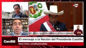 """Omar Cairo: """"Está claro que la posición del presidente es la Asamblea Constituyente previa modificación del artículo 206"""""""
