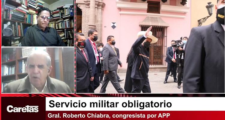 VIDEO  Congresista Chiabra sobre el servicio militar obligatorio: