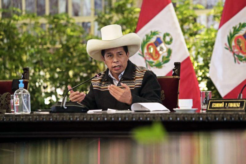 Pedro Castillo recibió en Palacio de Gobieno a Alan García Pérez