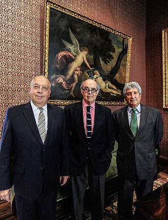 Canciller Ricardo Luna, embajador Luis Quesada y Raúl Salazar: troika peruana res