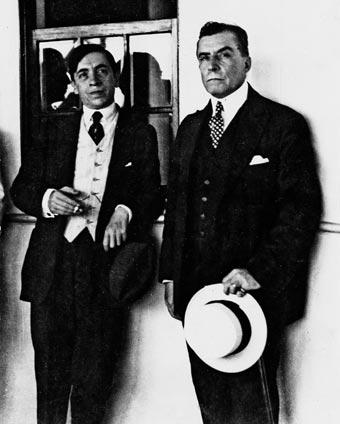 Chocano y el escritor español Francisco Villaespesa