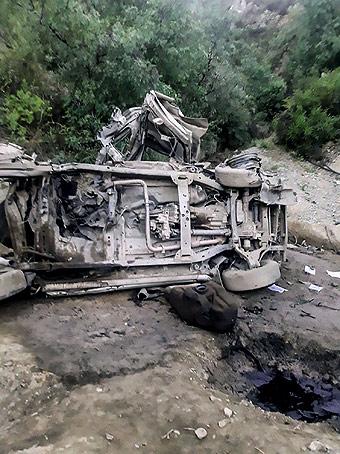 En Huancavelica, el explosivo fue accionado a control remoto