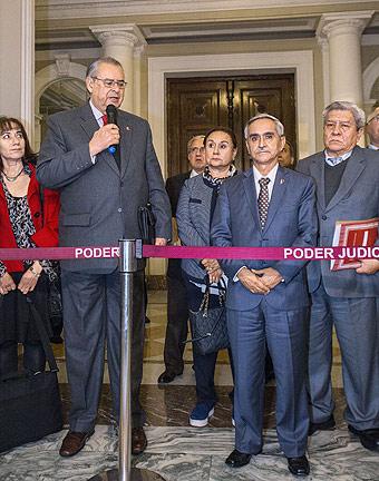 Comisión Wagner se reunió el lunes 16 con Rodríguez y supremos