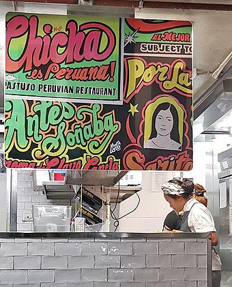 Con reverberante caligrafía Pastuso promueve cocina y bebida peruana