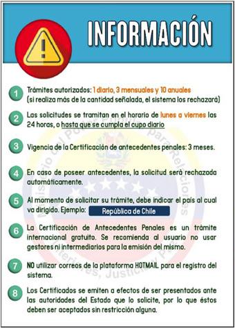 Requisitos para obtener certificado de antecedentes penales